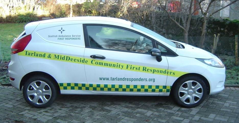Tarland First Responders van with decals